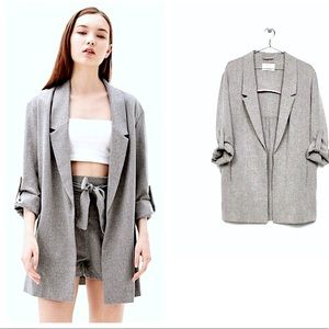 NWT🔥Breshka• Grey boyfriend blazer